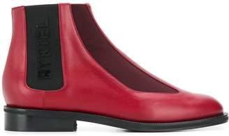 Sonia Rykiel logo chelsea boots