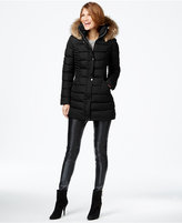 INC International Concepts Faux-Fur-Trim Quilted Puffer Coat, Only at Macy's