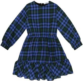 MSGM Kids Checked crepe dress