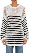 IRO Women's Lolita Striped Cotton-Blend Sweater-IVORY, BLACK, NO COLOR