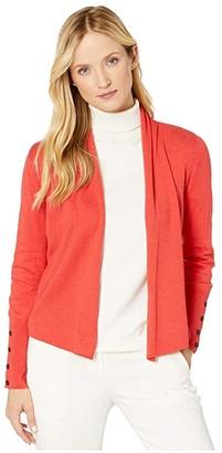 Nic+Zoe Book Club Cardy (Pop Red) Women's Sweater