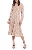 Vero Moda Tear Pleated Long Sleeve Midi Dress