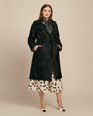 Most Wanted Design by Carlos Souza Ryan Lo Rose Jacquard Trench Coat