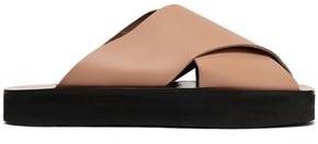 ATP ATELIER Acai Leather Platform Slides
