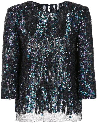 HANEY Anja sequined blouse