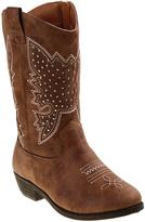 KensieGirl Taupe Stud Cowboy Boot - Girls