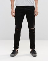 Religion Extreme Super Stretch Jeans With Rips