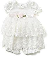 Edgehill Collection Baby Girls Newborn-6 Months Lace Romper