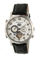 Heritor Edmond Mens Black Strap Watch-Herhr6201