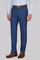Moss Bros Tailored Fit Peacock Blue Pants