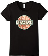 Women's Sewing T-shirt Crafts Quilting Embroidery Quilter Gift Tee Large