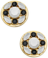Kate Spade Gold-Tone Jet Pavé & White Stone Stud Earrings