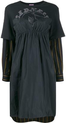 Sueundercover Patchwork Midi Dress