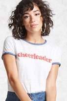 Forever 21 FOREVER 21+ Cheerleader Graphic Ringer Tee