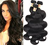 Connie Hair 7A Brazilian Hair 3 Bundles Body Wave Tangle-free 100% Unprocessed Brazilian Human Hair Bundles Natural Black Color 22 24 26Inch