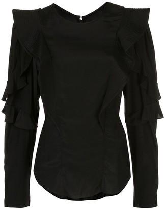 Etoile Isabel Marant Ruffled Sleeves Fitted Blouse