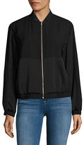 Lord & Taylor Zip-Front Bomber Jacket