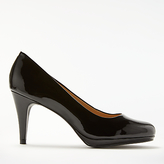 John Lewis Alicia Cone Heeled Court Shoes, Black
