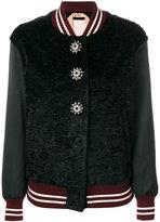 No.21 jewel button bomber jacket