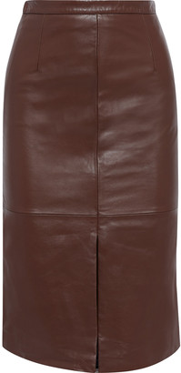 Iris & Ink Veda Leather Pencil Skirt