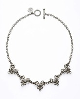 Ann Taylor Clear and Smoky Stone Necklace