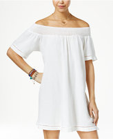 Roxy Juniors' Moonlight Shadow Off-The-Shoulder Shift Dress