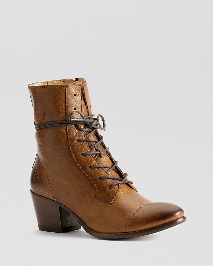 Frye Lace Up Booties - Courtney