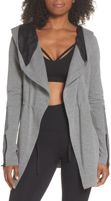 Blanc Noir Traveler Hooded Leather Trim Jacket