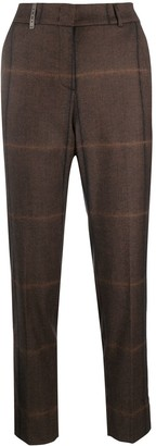 Peserico Check-Pattern Tapered Trousers