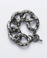 Gunmental/Crystal Chain Link Bracelet