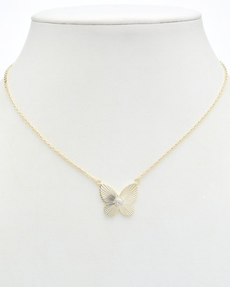 Alanna Bess Limited Collection 14K Over Silver Cz Pendant Necklace