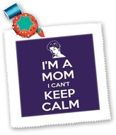 3dRose LLC EvaDane - Funny Quotes - Im a mom I cant keep calm. Purple. - Quilt Squares - (qs_200826_5)