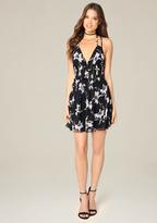 Bebe Print Double Strap Dress