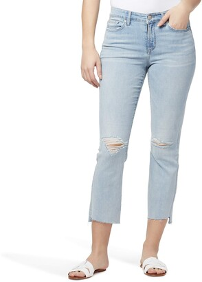 William Rast Women's Misses Mid-Rise Crop Boot Cut Jean