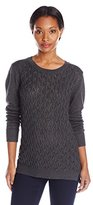 Dockers Women's Cable-Front Pullover Sweater