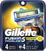 Gillette Fusion Proglide Power Men's Razor Blade Refills 4-Count, .5-Pound- Packaging May Vary