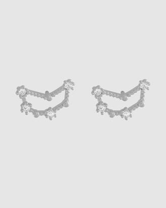 Wanderlust + Co Capricorn Silver Earrings