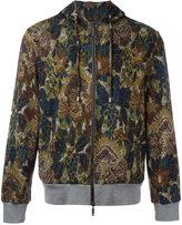 Etro printed zip up hoodie - men - Cotton/Polyamide - M