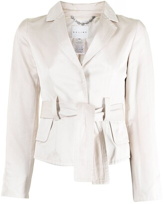Céline Pre-Owned Pre-Owned Belted Single-Breasted Blazer