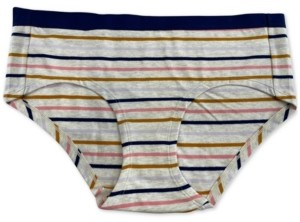 Jenni Women's Striped Hipster Underwear, Created for Macy's