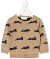 Simple car intarsia jumper