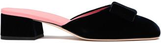 Victoria Beckham Harper Bow-embellished Velvet Mules