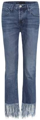 3x1 Straight Crop Fringe jeans