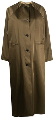 Kassl Editions Buttoned Duster Coat