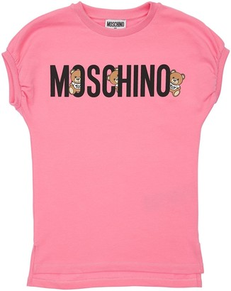 Moschino Logo Print Cotton Sweat Dress