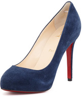 Christian Louboutin New Declic Suede Red Sole Pump