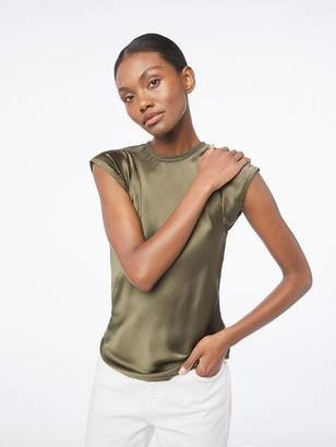 Frame Washable Silk Bias Muscle Top