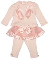 Biscotti Infant Girls' Ballet Shoe Top & Tutu Legging Set - Sizes 3-9 Months