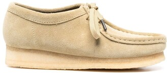 Clarks Wallabee suede lace-up loafers