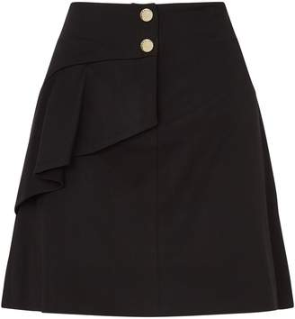 Sandro Asymmetric Ruffle Skirt